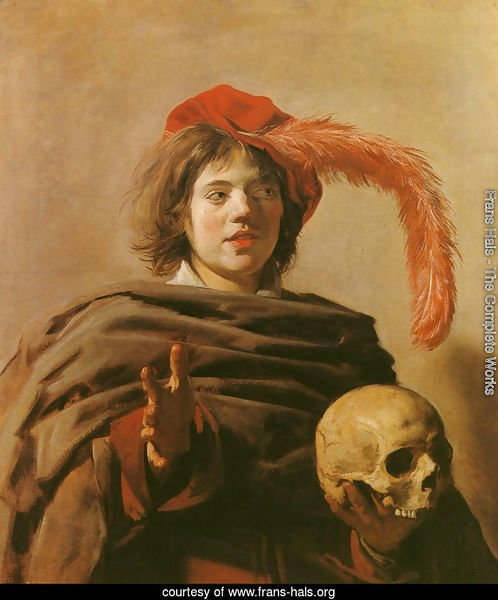 Boy with a Skull