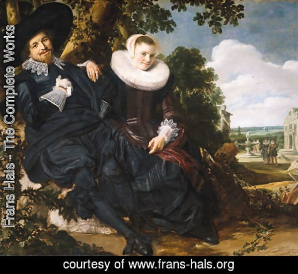 Frans Hals - Marriage Portrait of Isaac Massa en Beatrix van der Laen