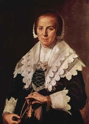 Frans Hals - Portrait of a Woman with a Fan