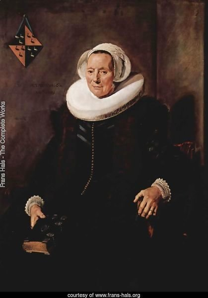 Portrait of Maritge Claesdr. Vooght, wife of Pieter Olycan