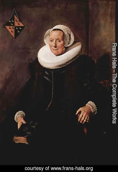 Frans Hals - Portrait of Maritge Claesdr. Vooght, wife of Pieter Olycan