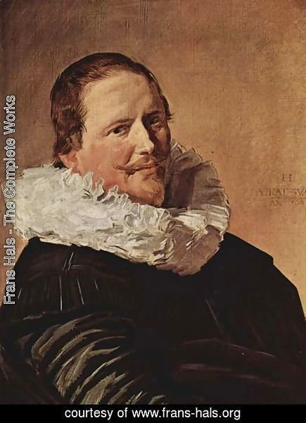 Frans Hals - Portrait of a man about thirty years with pleated collar
