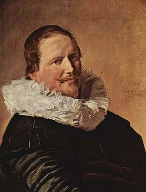 Portrait of a man about thirty years with pleated collar