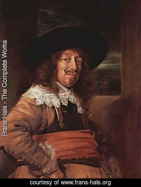 Frans Hals - Portrait of a man in Brustharnisch
