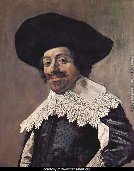Portrait of a man with a high-collar