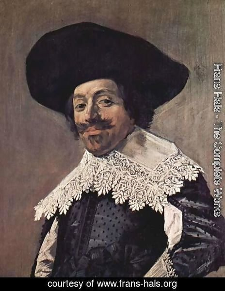 Frans Hals - Portrait of a man with a high-collar