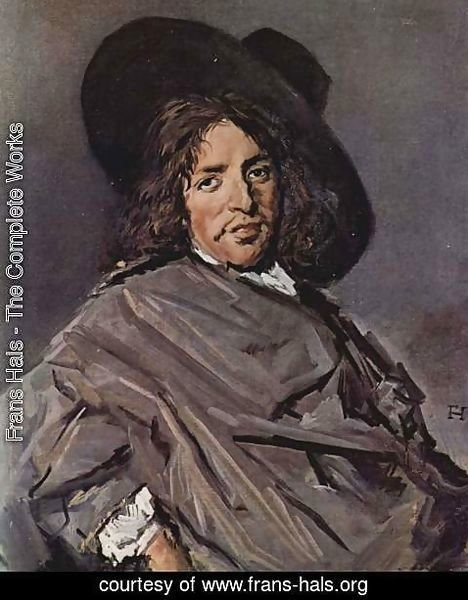 Frans Hals - Portrait of a seated man with angular hat