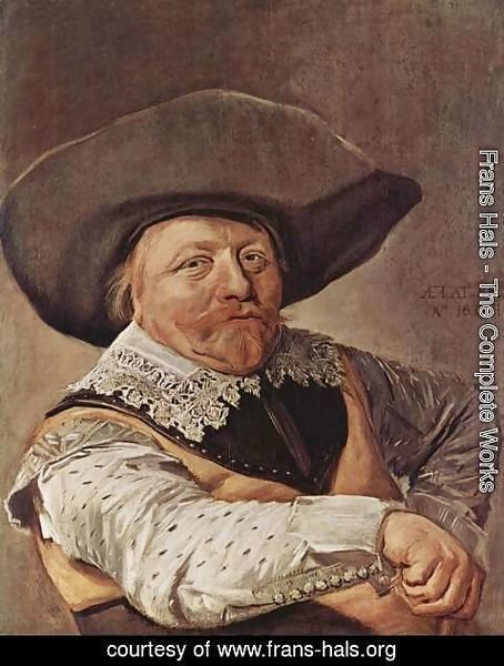 Frans Hals - Portrait of a seated officer