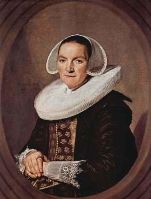Frans Hals - Portrait of a woman with approximately forty with entangled hands