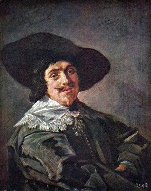 Frans Hals - Portrait of a young man in gelbgrauen rock