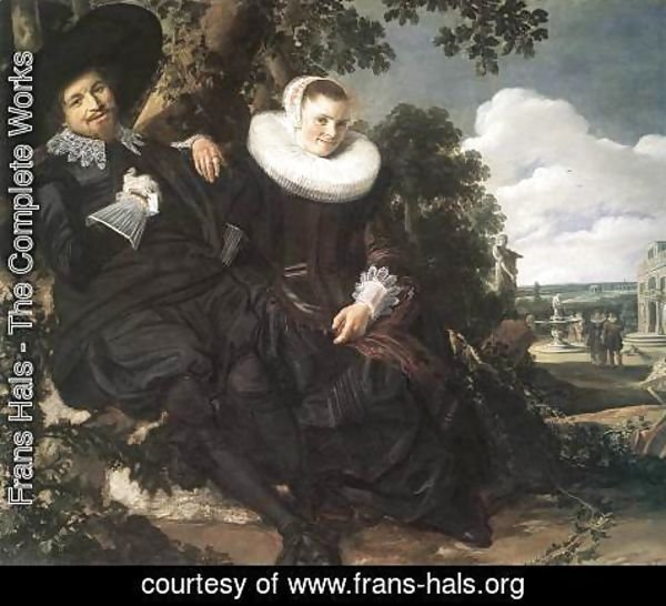 Frans Hals - Married Couple in a Garden