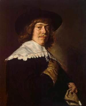 Frans Hals - Portrait of a Young Man Holding a Glove