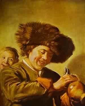 Fisherman Playing A Fiddle 1630