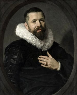 Frans Hals - Portrait of a Bearded Man with a Ruff 1625