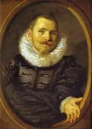 Frans Hals - Portrait Of A Man In A Travellers Hat 1660-66