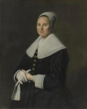 Frans Hals - Portrait Of A Woman With Gloves