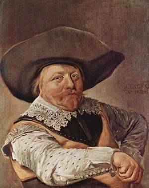 Frans Hals - Portrait of a seated officer with arms propped