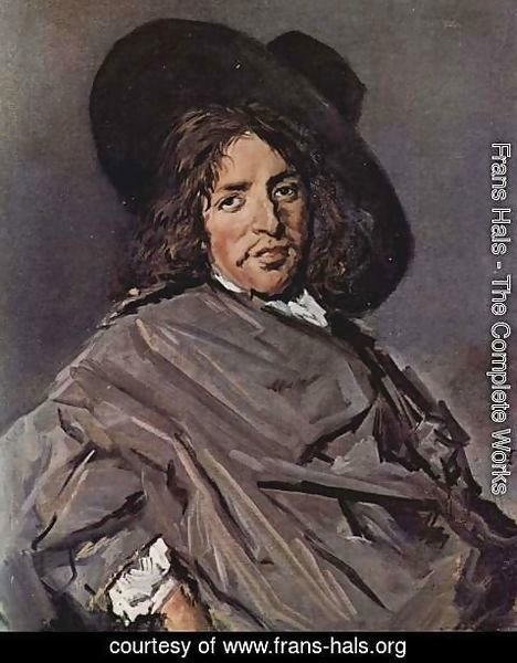Frans Hals - Portrait of a seated man with slanted hat