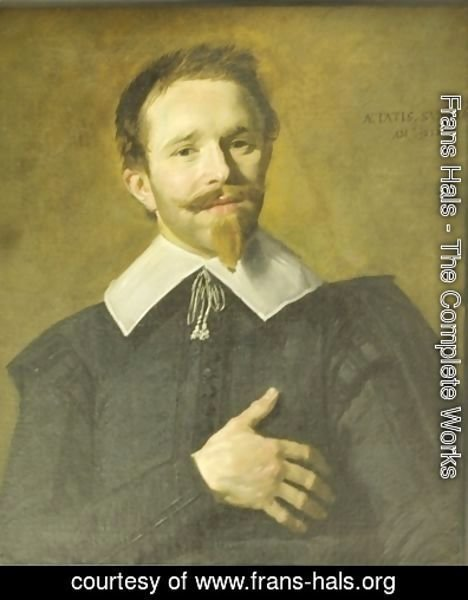 Frans Hals - Man with hand on heart
