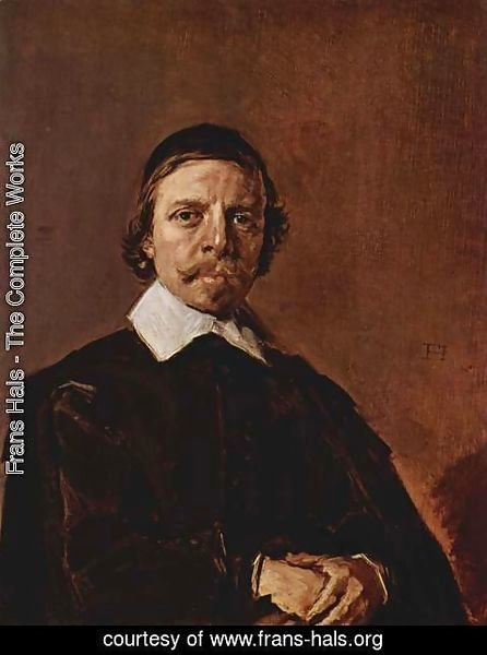 Frans Hals - Portrait of a Man, possibly a minister