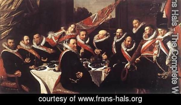 Frans Hals - Banquet of the Officers of the St George Civic Guard  1616