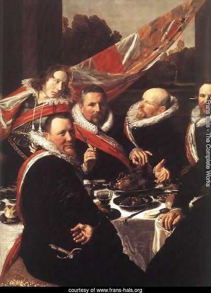 Banquet of the Officers of the St George Civic Guard  (detail)  1616