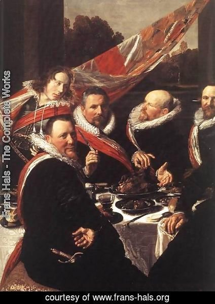 Frans Hals - Banquet of the Officers of the St George Civic Guard  (detail)  1616