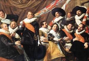 Frans Hals - Banquet of the Officers of the St George Civic Guard Company (1)  c. 1627