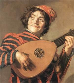 Buffoon Playing a Lute c. 1623