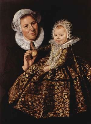 Frans Hals - Catharina Hooft with her Nurse  1619-20