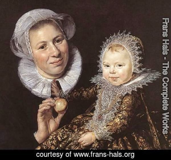 Frans Hals - Catharina Hooft with her Nurse (detail 1) 1619-20