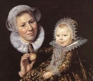 Catharina Hooft with her Nurse (detail 1) 1619-20