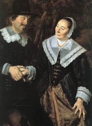 Frans Hals - Family Group in a Landscape (1) (detail) c. 1648