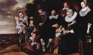 Frans Hals - Family Group in a Landscape (2) c. 1648