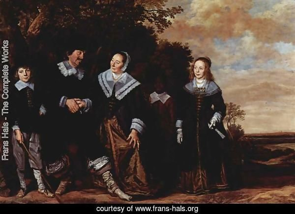 Family Group in a Landscape (1) c. 1648