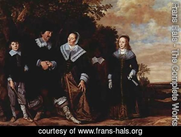 Frans Hals - Family Group in a Landscape (1) c. 1648