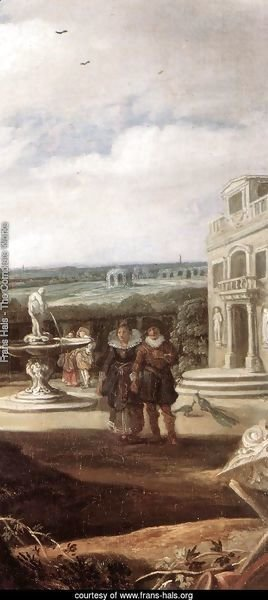 Married Couple in a Garden (detail 2) c. 1622