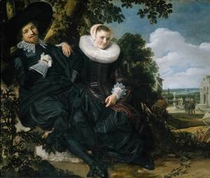Frans Hals - Married Couple in a Garden c. 1622