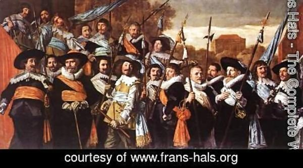 Frans Hals - Officers and Sergeants of the St George Civic Guard Company  c. 1639