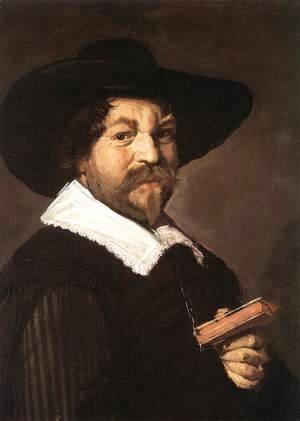 Frans Hals - Portrait of a Man Holding a Book  1640-43
