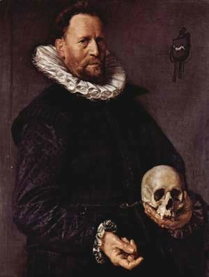 Frans Hals - Portrait of a Man Holding a Skull  c. 1611