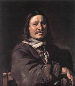 Frans Hals - Portrait of a Seated Man 1660-66