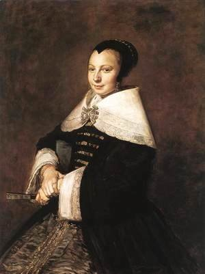 Portrait of a Seated Woman Holding a Fan  1648-50