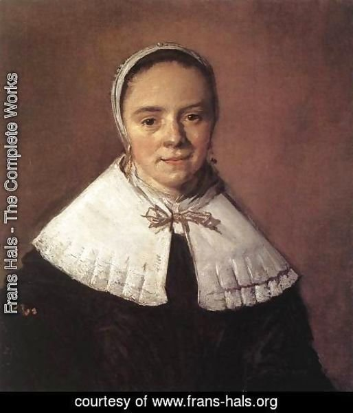 Frans Hals - Portrait of a Woman  1655-60