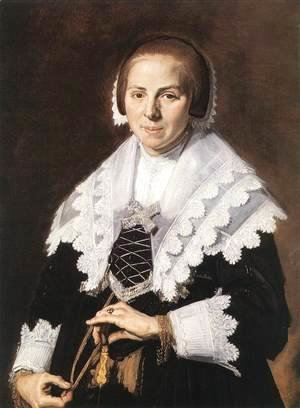 Frans Hals - Portrait of a Woman Holding a Fan  c. 1640
