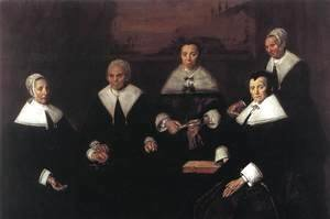 Frans Hals - Regentesses of the Old Men's Almshouse  1664