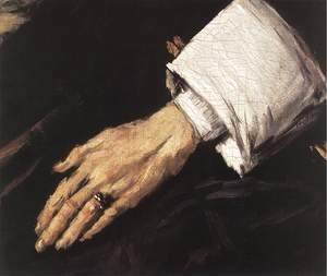 Frans Hals - Regentesses of the Old Men's Almshouse (detail 3)  1664