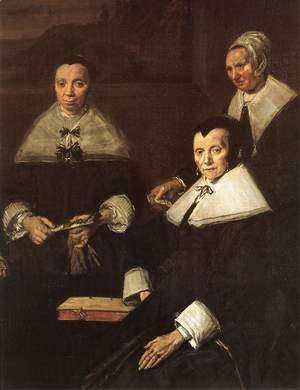 Frans Hals - Regentesses of the Old Men's Almshouse (detai 2)  1664