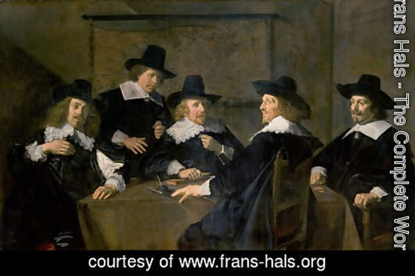 Frans Hals - Regents of the St Elizabeth Hospital of Haarlem  1641