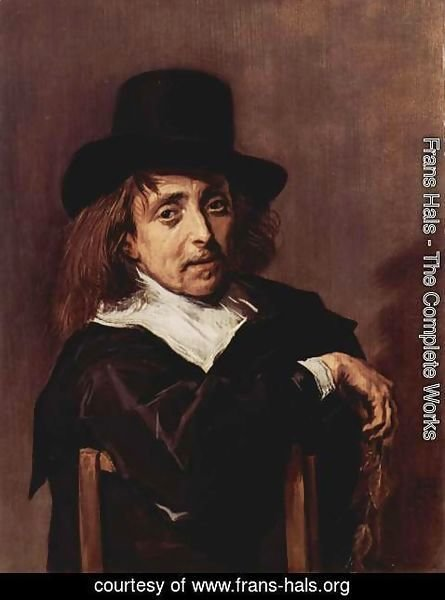 Frans Hals - Seated Man Holding a Branch  c. 1645